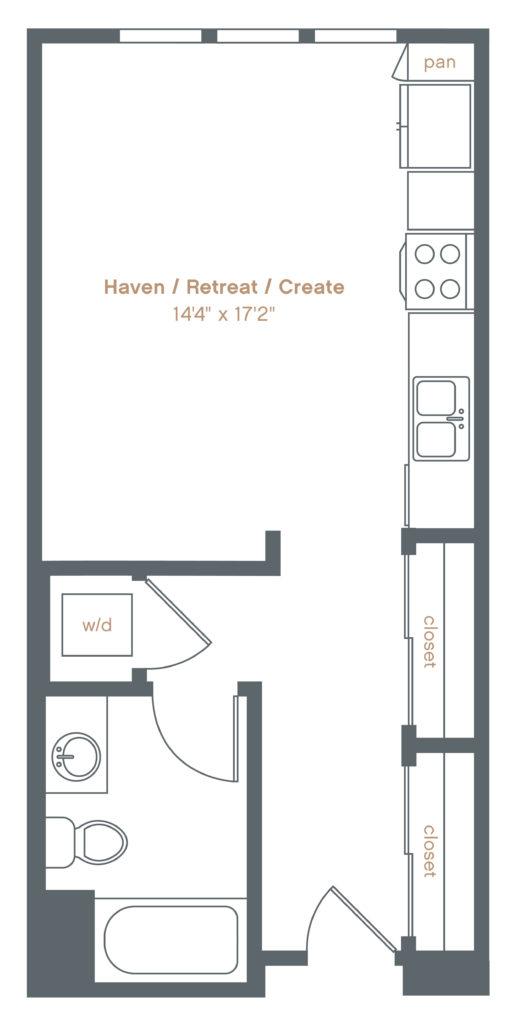 studio luxury apartments in Danville