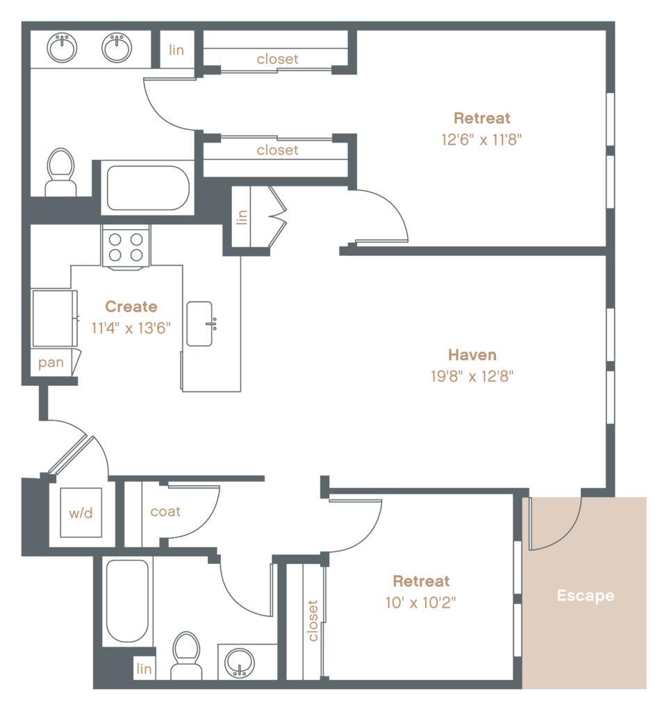 Get Cozy in a Comfy Two-Bedroom