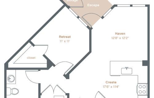 Inspiring One-Bedroom Luxury Apartments